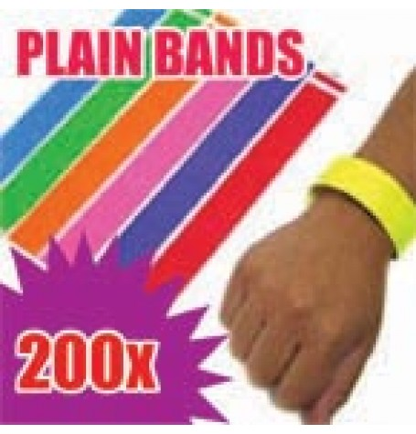 200 x 19mm Plain Tyvek Wristbands (Solid Colours)
