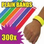 300 x 19mm Plain Tyvek Wristbands (Solid Colours)