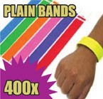 400 x 19mm Plain Tyvek Wristbands (Solid Colours)