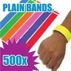 500 x 19mm Plain Tyvek Wristbands (Solid Colours)