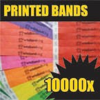 10,000 x 19mm Custom Printed Tyvek Wristbands