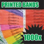 1,000 x 19mm Custom Printed Tyvek Wristbands