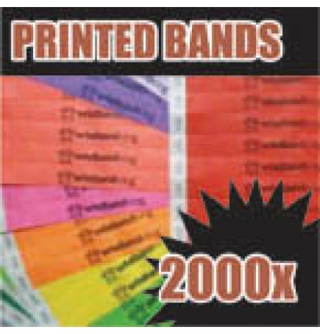 2,000 x 19mm Custom Printed Tyvek Wristbands