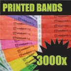 3,000 x 19mm Custom Printed Tyvek Wristbands
