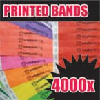 4,000 x 19mm Custom Printed Tyvek Wristbands