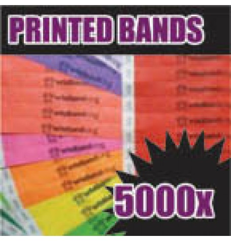 5,000 x 19mm Custom Printed Tyvek Wristbands