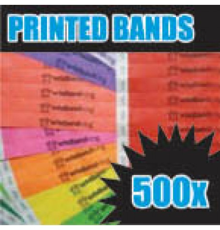 500 x 19mm Custom Printed Tyvek Wristbands